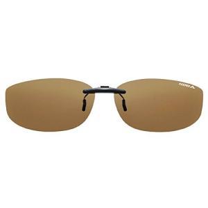 日本製 偏光 &UVカット 99% メガネの上から サングラス クリップ オン KEEPER smart  S ブラウン 9332-01 sanmaruroku