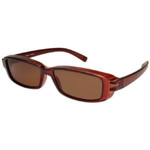 ANYCCS(エニックス) サングラス 偏光レンズ メガネの上から掛けられる オーバーグラス クリアブラウン FC-005-2 sanmaruroku