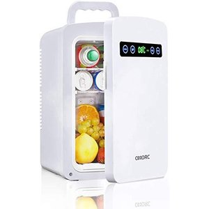 OMORC 保冷庫 冷蔵庫 小型 冷温庫 10L ミニ冷蔵庫 −9℃~60℃ 保温・保冷両用 保冷ボックス お弁当 家庭 車載 AC DC|sanmaruroku
