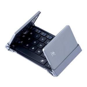 スリーイー Bluetooth3.0 キーボード 3つ折りタイプ 英語配列 64キー ケース付属(ブラック)3E Bluetooth Keyboard NEO(|sanmaruroku