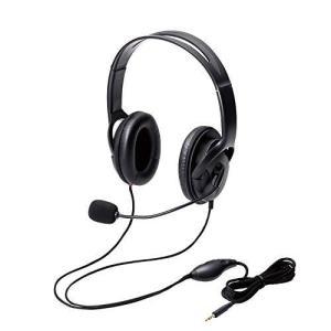 エレコム ヘッドセット マイク 4極 両耳 オーバーヘッド 耐久コード 40mmドライバ 1.8m HS-HP23TBK|sanmaruroku