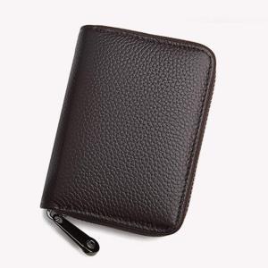 カードケース 大容量 カード入れ 革 レザー 磁気防止 じゃばら ミニ財布 メンズ レディース (ブラウン) sanmaruroku