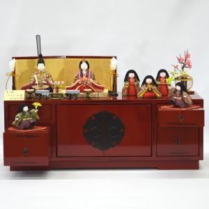 雛人形 木目込み 収納七人飾り 柿沼東光作