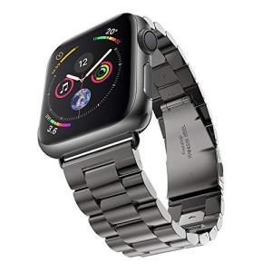 Apple Watch 金属ベルト  アップルウォッチ ベルト 時計バンド アップルウォッチ バンド 腕時計ストラップ  (42mm, ブラック)|sanosyoten