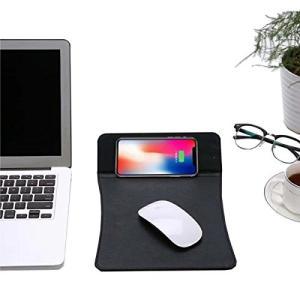 Qi ワイヤレス 充電 マウスパッド おしゃれ 置くだけ 充電 充電機能 パッド PC USB 2in1 iPhone8対応 バッテリー pc1004|sanosyoten