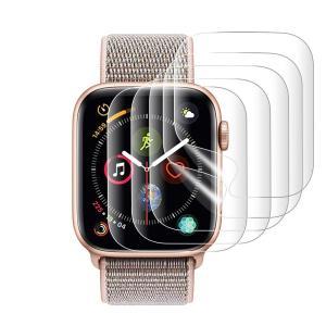 『改善版全面保護』AUNEOS Apple Watch Series 4 フィルム 44mm Apple Watch 保護フィルム 高透過率 耐指紋|sanosyoten