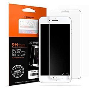 Spigen スマホフィルム iPhone8 iPhone7 対応 強化ガラス 液晶保護フィルム 高...