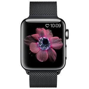 BRG コンパチブル apple watch バンド,ミラネーゼループ アップルウォッチバンド アップルウォッチ(42mm,ブラック)|sanosyoten