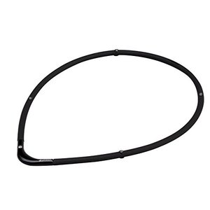 ファイテン(phiten) ネックレス RAKUWA 磁気チタンネックレスS-|| ブラック×ブラック 55cm 定番