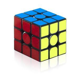 ルービックキューブ スピードキューブ 3x3x3 競技用 世界標準配色 回転スムーズ 立体パズル ポ...