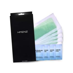 脱毛 除毛 初めての方に HMENZ メンズ 脱毛シート 大容量40枚 ふき取りシート20枚  (ブラジリアンワックス シート 脱毛テープ 除毛シート)|sanosyoten