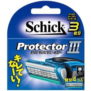 シック Schick プロテクタースリー 3枚刃 替刃 (4コ入)|sanosyoten