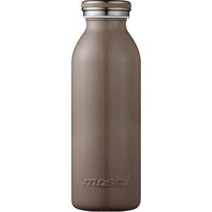 水筒 真空断熱 スクリュー式 マグ ボトル 0.45L ブラウン mosh! (モッシュ! ) DMMB450BR 送料無料|sanosyoten