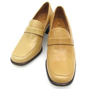 ■採寸#22 1/2 22.5cm位 ヒールの高さ6cm 幅表記なし靴底外履き使用感あり 太めの安定...