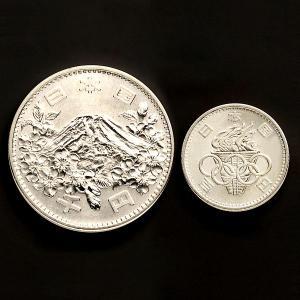 H-55  1964年東京五輪記念1,000円銀貨セット (100円銀貨付き)