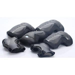 キッズ  プロテクター3点セット(手首・肘・膝) ブラック|sanpouyosi-store