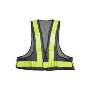 安全ベスト 黒+黄(テープ) KF-019-B/ ダークブルー/銀色(テープ)イエロー/黄色(テープ)反射ベスト 夜行ベスト 安全チョッキ /10枚セット・特別価格|sanpouyosi-store
