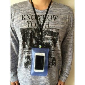高品質 水深20M【スマートフォン 防水ケース 】iPhone5s/5c/iPhone4s/スマートフォン用 防水ケース 両面窓 ストラップ付 ★|sanpouyosi-store|02