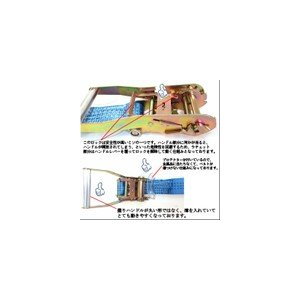 ラッシングベルト レール ベルト幅50mm 固定側1m 巻側3m 10pcsセット/ラチェット式荷締めラッシングベルト トラック用 工具 高品質CE規格製品/格安価格|sanpouyosi-store|02