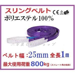 スリングベルト ベルト幅 25mm全長 1m /耐久性に優れているポリエステル強力原糸100% ナイロンスリング ベルトスリング 繊維ベルト|sanpouyosi-store