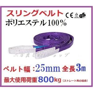 スリングベルト ベルト幅25mm 全長3m/ポリエステル強力原糸100% ナイロンスリング ベルトスリング