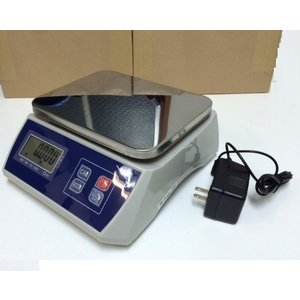 【6ヶ月保証】防塵デジタル皿はかり15kg/1g バッテリー内蔵充電式 液晶大画面表示 ステンレス皿仕様 (皿はかり) 【はかりデジタル計り量り】おすすめ|sanpouyosi-store