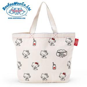 ハローキティ×BOOFOOWOO トートバッグ(生成りロゴ)|sanrio