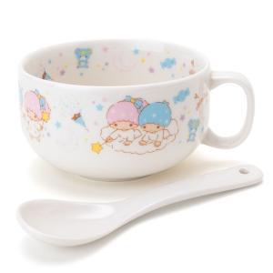 リトルツインスターズ スプーン付きスープマグカップ|sanrio