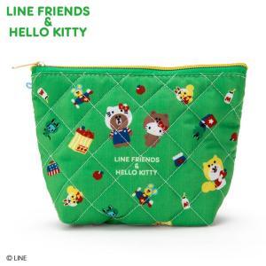 LINE FRIENDS & ハローキティ ポーチ入りお菓子セット sanrio
