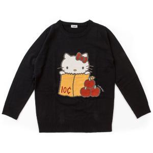 ハローキティ ジャカードニットセーター(ブラック)|sanrio