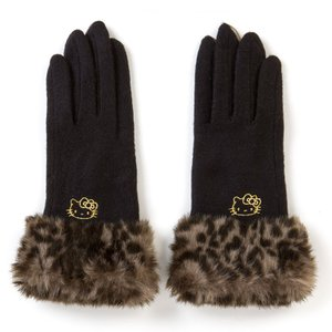 ハローキティ スマホ手袋(ブラック)|sanrio