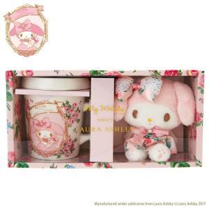 マイメロディ マグカップ&マスコットホルダーセット(Hello Kitty meets LAURA ASHLEY)|sanrio
