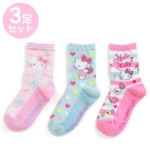 ハローキティ キッズソックス3足セット(フラワー)|sanrio
