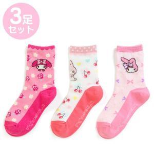 マイメロディ キッズソックス3足セット(バラ) sanrio