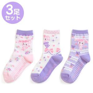 ぼんぼんりぼん キッズソックス3足セット(フラワー)|sanrio