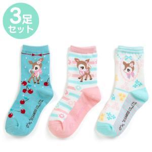 ハミングミント キッズソックス3足セット(フラワー)|sanrio