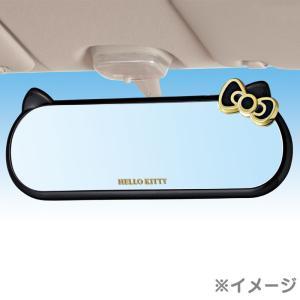 ハローキティ ルームミラー(ブラック&ゴールド)|sanrio