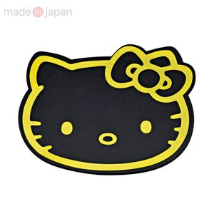 ハローキティ フェイス形すべり止めシート(ブラック&ゴールド)|sanrio