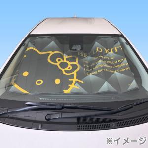 ハローキティ フロントサンシェード(ブラック&ゴールド)|sanrio