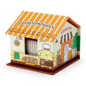 ポムポムプリン ハウス形ケース入りメモ&付箋 sanrio