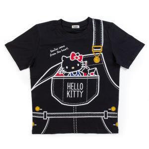 ハローキティ Tシャツ(ポケット) ブラック sanrio