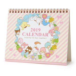 サンリオキャラクターズ リングカレンダー(リース) 2019|sanrio
