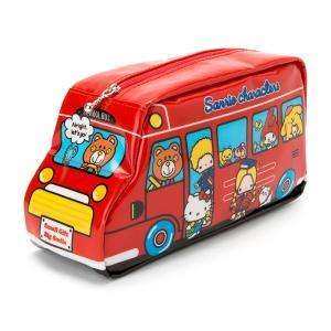 サンリオキャラクターズ バス形ペンケース レッド|sanrio