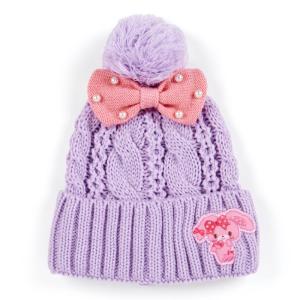 ぼんぼんりぼん キッズケーブル編みニット帽|sanrio