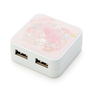マイメロディ USB出力ACアダプタ(ウォーターペイント)