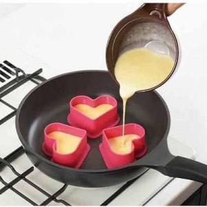 パンケーキリング ハート 3個セット 厚焼きパンケーキリング ちらし寿司 ライス 型抜 キャラ弁 型
