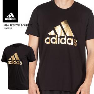 アディダス Tシャツ メンズ BOSロゴ TEE インナー シンプル 半袖 無地 トップス 黒 ブラック ゴールド ウェア メタリック adidas 運動 スポーツ FN1735*|sansei-s-style