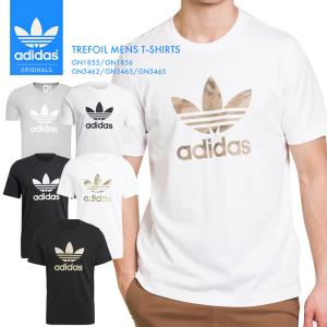 アディダス メンズ  Tシャツ トレフォイル TEE インナー シンプル 半袖 無地 白 黒 ブラック ホワイト ウェア 迷彩 adidas スポーツ でぃだす オリジナルス *|sansei-s-style