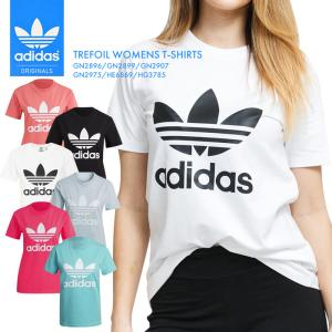 アディダス レディース Tシャツ トレフォイル TEE インナー シンプル 半袖 白 黒 ウェア adidas スポーツ あでぃだす オリジナルス GN2896 GN2899 GN2907 * sansei-s-style