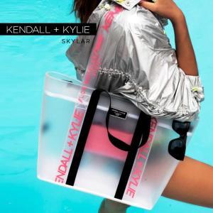 ケンダルアンドカイリー レディース バッグ Kendall+Kylie SKYLAR スカイラー トートバッグ ハンドバッグ クリア シースルー スケルトン|sansei-s-style